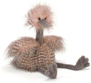 Peluche de Avestruz de Jelly Cat de 50 cm - Los mejores peluches de avestruces - Peluches de animales