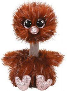 Peluche de Avestruz marrón de Ty Beanie Boo's de 24 cm - Los mejores peluches de avestruces - Peluches de animales
