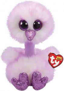 Peluche de Avestruz morado de Ty Beanie Boo's de 23 cm - Los mejores peluches de avestruces - Peluches de animales