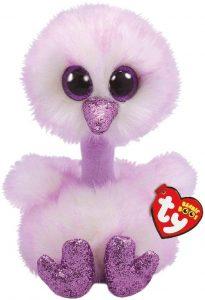 Peluche de Avestruz morado de Ty Beanie Boo's de 40 cm - Los mejores peluches de avestruces - Peluches de animales