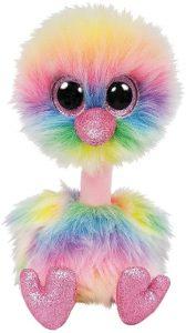 Peluche de Avestruz multicolor de Ty Beanie Boo's de 24 cm - Los mejores peluches de avestruces - Peluches de animales