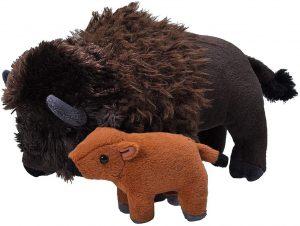 Peluche de Bisonte con cría de Wild Republic de 33 cm - Los mejores peluches de bisontes - Peluches de animales