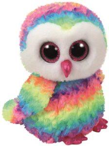 Peluche de Búho de Ty multicolor de 15 cm - Los mejores peluches de buhos - Peluches de animales