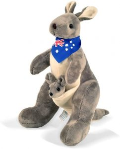 Peluche de Canguro de BOHS de 30 cm - Los mejores peluches de canguros - Peluches de animales