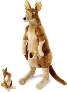 Peluche de Canguro de Melissa & Doug de 74 cm - Los mejores peluches de canguros - Peluches de animales