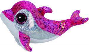 Peluche de Delfin rosa de Ty de 15 cm - Los mejores peluches de delfines - Peluches de animales