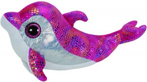 Peluche de Delfin rosa de Ty de 23 cm - Los mejores peluches de delfines - Peluches de animales