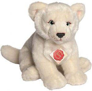 Peluche de León blanco de Hermann Teddy de 28 cm - Los mejores peluches de leones - Peluches de animales
