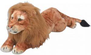 Peluche de León de vidaXL de 90 cm - Los mejores peluches de leones - Peluches de animales