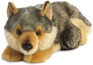 Peluche de Lobo de Aurora World de 20 cm - Los mejores peluches de lobos - Peluches de animales