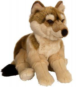 Peluche de Lobo de Gipsy marrón de 30 cm - Los mejores peluches de lobos - Peluches de animales