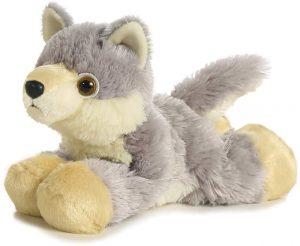 Peluche de Lobo de Mini Flopsie de 20 cm - Los mejores peluches de lobos - Peluches de animales