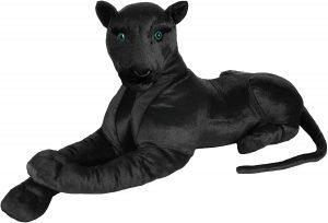 Peluche de Pantera Negra de BRUBAKER de 110 cm - Los mejores peluches de panteras - Peluches de animales
