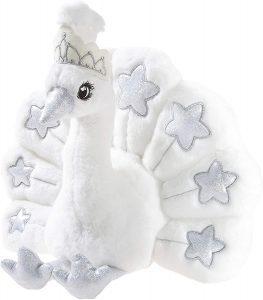 Peluche de Pavo Real Blanco de Heunec de 30 cm especial - Los mejores peluches de pavos reales - Peluches de animales