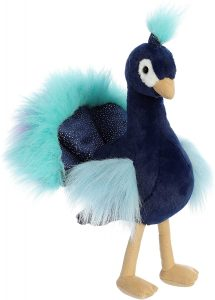 Peluche de Pavo Real de Aurora de 30 cm especial - Los mejores peluches de pavos reales - Peluches de animales