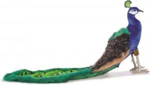 Peluche de Pavo Real de Hansa de 33 cm - Los mejores peluches de pavos reales - Peluches de animales