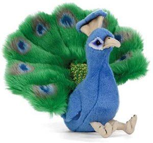 Peluche de Pavo Real de Living Nature de 18 cm - Los mejores peluches de pavos reales - Peluches de animales