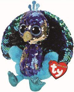 Peluche de Pavo Real de Ty de 15 cm - Los mejores peluches de pavos reales - Peluches de animales