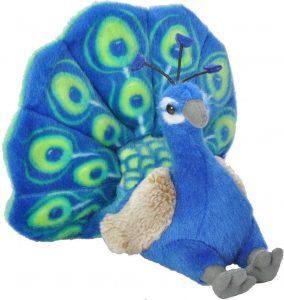 Peluche de Pavo Real de Wild Republic de 20 cm - Los mejores peluches de pavos reales - Peluches de animales