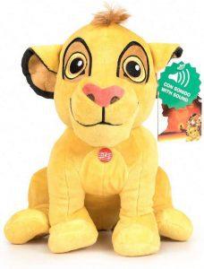 Peluche de Simba del Rey león con sonido de Disney de 27 cm de Play by Play - Los mejores peluches del Rey León - Peluches de Disney