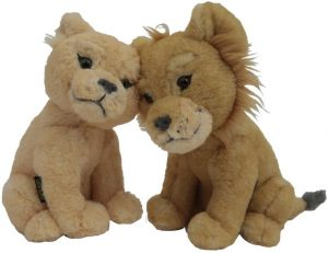 Peluche de Simba y Nala Live Action del Rey león de Disney de 22 cm - Los mejores peluches del Rey León - Peluches de Disney