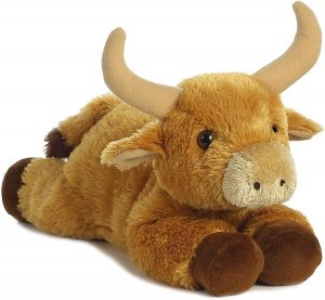 Peluche de Toro de Aurora de 30 cm - Los mejores peluches de toros - Peluches de animales