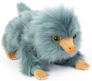 Peluche de bebe Niffler gris de Animales fantásticos de The Noble Collection de 20 cm - Escarbato - Los mejores peluches de niffler - Peluches de Harry Potter