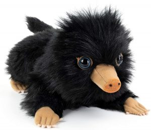 Peluche de bebe Niffler negro de Animales fantásticos de The Noble Collection de 20 cm - Escarbato - Los mejores peluches de niffler - Peluches de Harry Potter