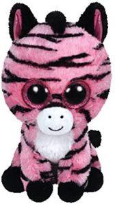 Peluche de cebra rosa de Ty de 23 cm - Los mejores peluches de cebras - Peluches de animales