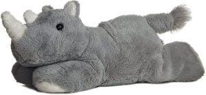 Peluche de rinoceronte de Aurora de 20 cm - Los mejores peluches de rinocerontes - Peluches de animales