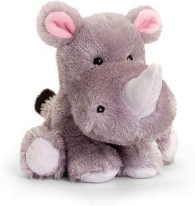 Peluche de rinoceronte de Keel Toys de 14 cm - Los mejores peluches de rinocerontes - Peluches de animales
