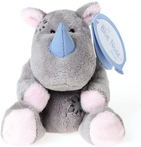 Peluche de rinoceronte de My Blue Nose Friends de 10 cm - Los mejores peluches de rinocerontes - Peluches de animales