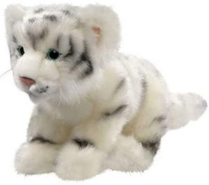 Peluche de tigre blanco de Carl Dick de 25 cm - Los mejores peluches de tigres - Peluches de animales