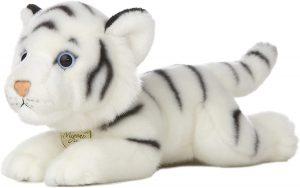Peluche de tigre blanco de Miyoni de 20 cm - Los mejores peluches de tigres - Peluches de animales