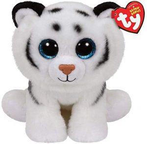Peluche de tigre blanco de Ty de 23 cm - Los mejores peluches de tigres - Peluches de animales