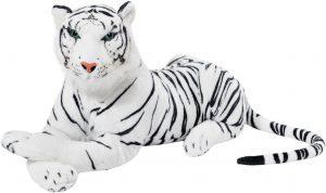 Peluche de tigre blanco gigante de Brubaker de 75 cm - Los mejores peluches de tigres - Peluches de animales