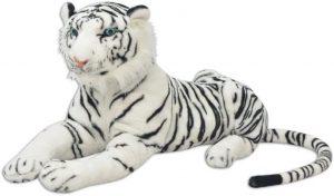 Peluche de tigre blanco gigante de XL de 80 cm - Los mejores peluches de tigres - Peluches de animales