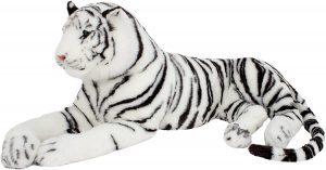 Peluche de tigre gigante blanco de Brubaker de 220 cm - Los mejores peluches de tigres - Peluches de animales