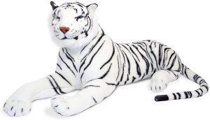 Peluche de tigre gigante blanco de Melissa & Doug de 120 cm - Los mejores peluches de tigres - Peluches de animales