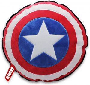 Cojín del escudo del Capitán América de 30 cm - Los mejores peluches del Capitán América - Peluches de superhéroes de Marvel