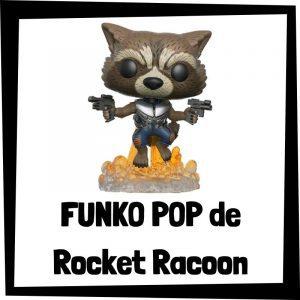 Figuras FUNKO POP baratas de Rocket Racoon - Los mejores peluches de Rocket Racoon - Peluche de Rocket Racoon de los Guardianes de la Galaxia de Marvel barato de felpa