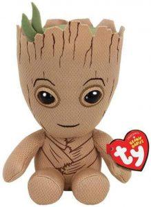 Peluche de Baby Groot de 15 cm de Ty - Los mejores peluches de Groot de los Guardianes de la Galaxia - Peluches de superhéroes de Marvel
