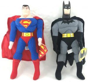 Peluche de Batman y Superman de 30 cm - Los mejores peluches de Batman - Peluches de superhéroes de DC