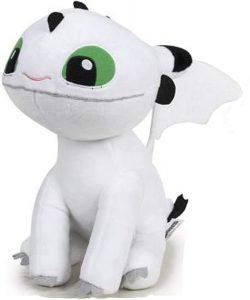 Peluche de Bebé dragón blanco ojos verde de 26 cm - Los mejores peluches de como Entrenar a tu Dragón 3 - Peluches de como Entrenar a tu Dragón 3