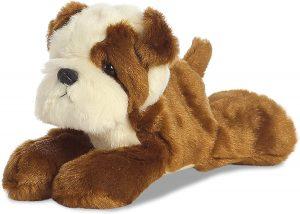 Peluche de Bulldog de Aurora de 20 cm - Los mejores peluches de bulldogs - Peluches de perros