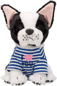 Peluche de Bulldog de Depesche de 18 cm - Los mejores peluches de bulldogs - Peluches de perros