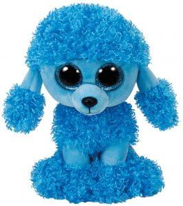 Peluche de Caniche azul de Ty de 15 cm - Los mejores peluches de caniches - Peluches de perros