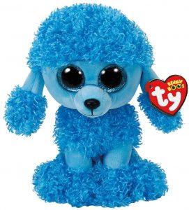 Peluche de Caniche azul de Ty de 23 cm - Los mejores peluches de caniches - Peluches de perros
