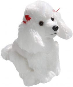 Peluche de Caniche blanco de Carl Dick de 20 cm - Los mejores peluches de caniches - Peluches de perros