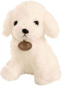Peluche de Caniche blanco de STOBOK de 18 cm - Los mejores peluches de caniches - Peluches de perros